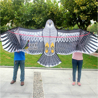 Free Shipping Outdoor Fun Sports High Quality 3.6m Super Power Eagle Kite With Handle And Braided Line Good Flying