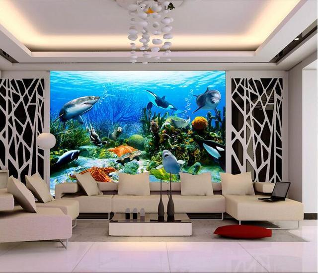 3d Wallpaper Custom Mural Non Woven Room Underwater World Setting Wall Painting
