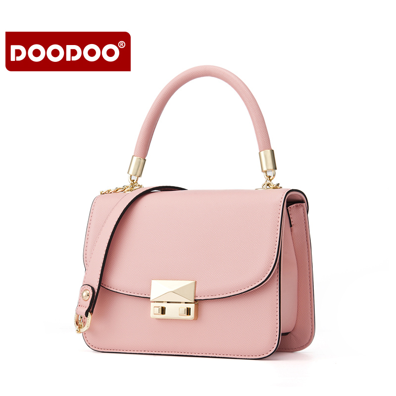 DOODOO new 2017 messenger crossbody shoulder evening bag sling bag lock PU leather female fashion lady handbags girls women bags new arrival women messenger bags genuine leather female shoulder bags girls satchels envelop handbags lady clutch evening bag