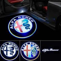 2 sztuk nowych moda LED samochodów drzwiowe światło wejściowe projektor do logo dla alfa romeo giulia Giulietta Mito Stelvio Brera 147 156 159