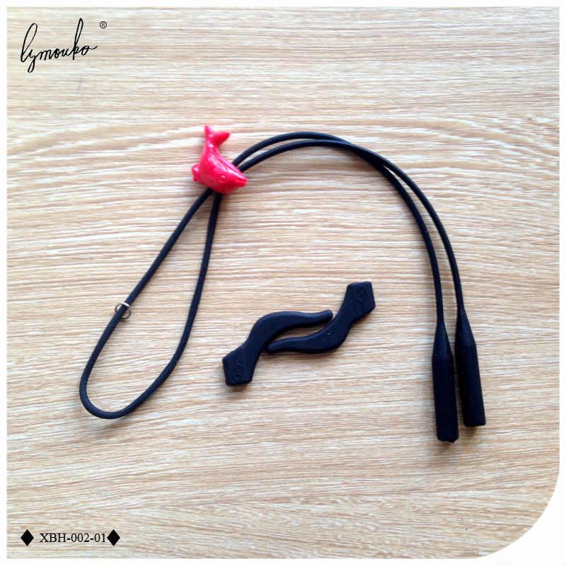 Lymouko 1 Set hermosa proteger elástico chico niño deportes correa de silicona gafas espectáculo cordón cadena antideslizante gancho de oreja titular