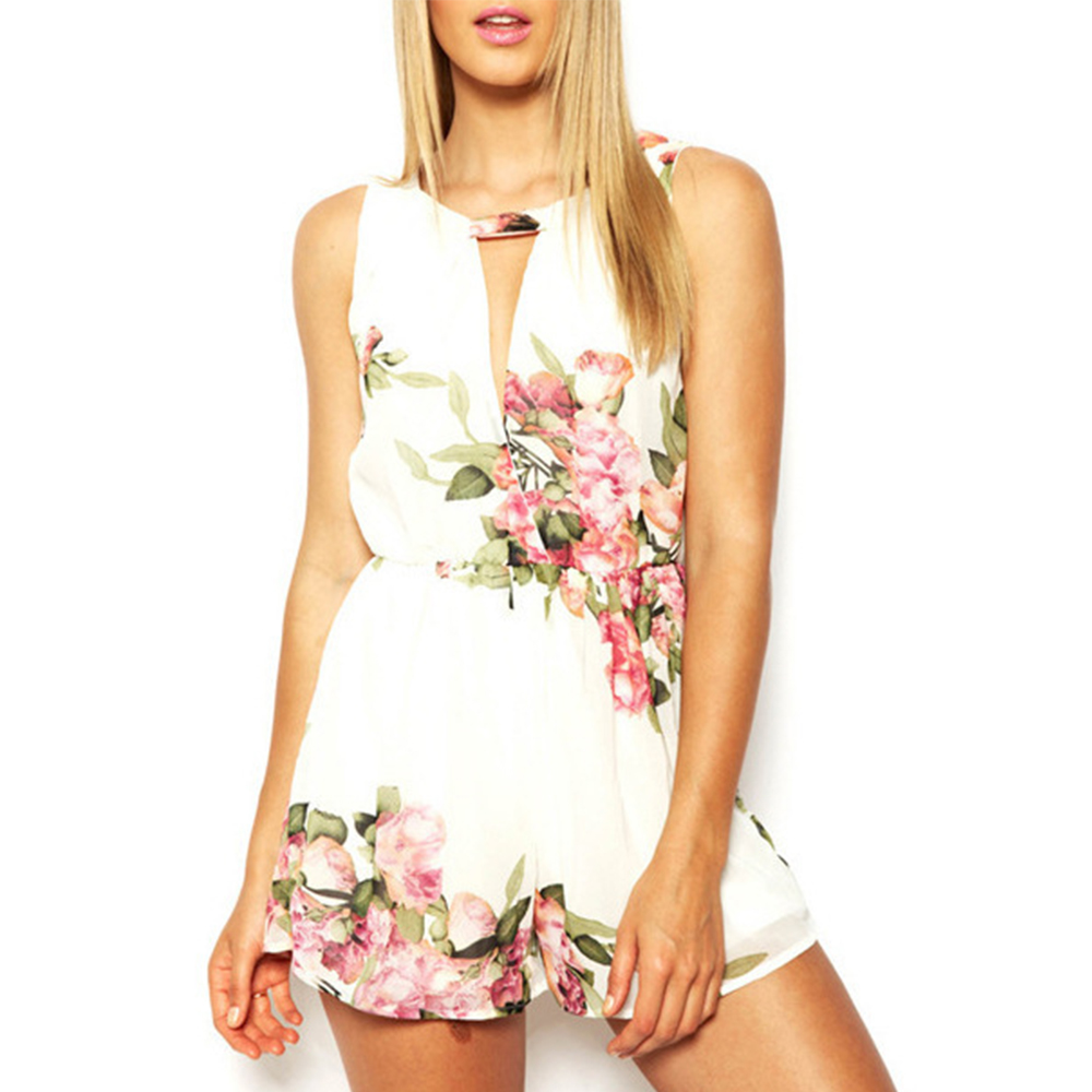 Bodysuit Floral Print Women Rompers Top   Jumpsuit   Playsuit Body Feminino Bohemian Casual Summer Boho Clothes Overall Tops 2 Color