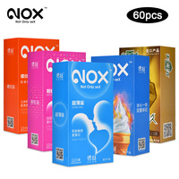 60Pcs/lot Original NOX Natural Latex 52mm Condoms Delay Ejaculation Intimate Goods for men Reusable Condoms Toys Sex Products