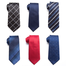 20 Style Formal Ties Business Vestidos Wedding Classic Men's Tie Stripe Grid 8cm Corbatas Dress Fashion Accessories Men Necktie