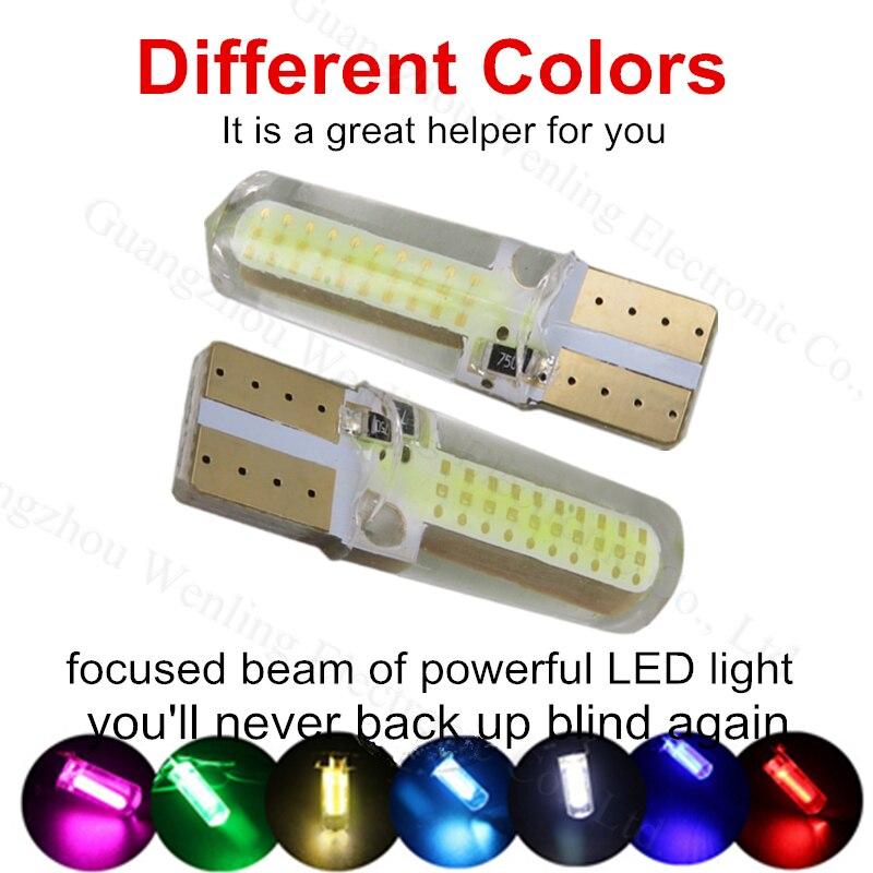 10pc T10 168 W5W COB Silicone shell LED Car Interior Lights Side Bulb Light lamp