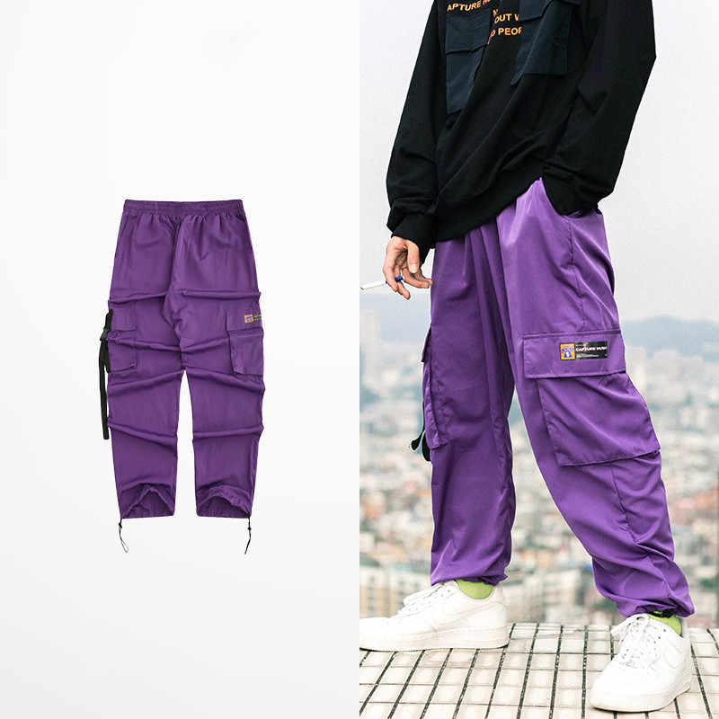 290e2f31 New Fashion Mens Sport Pants Skateboard Hip Hop Side Pocket Cargo Pants Men  And Women Kanye