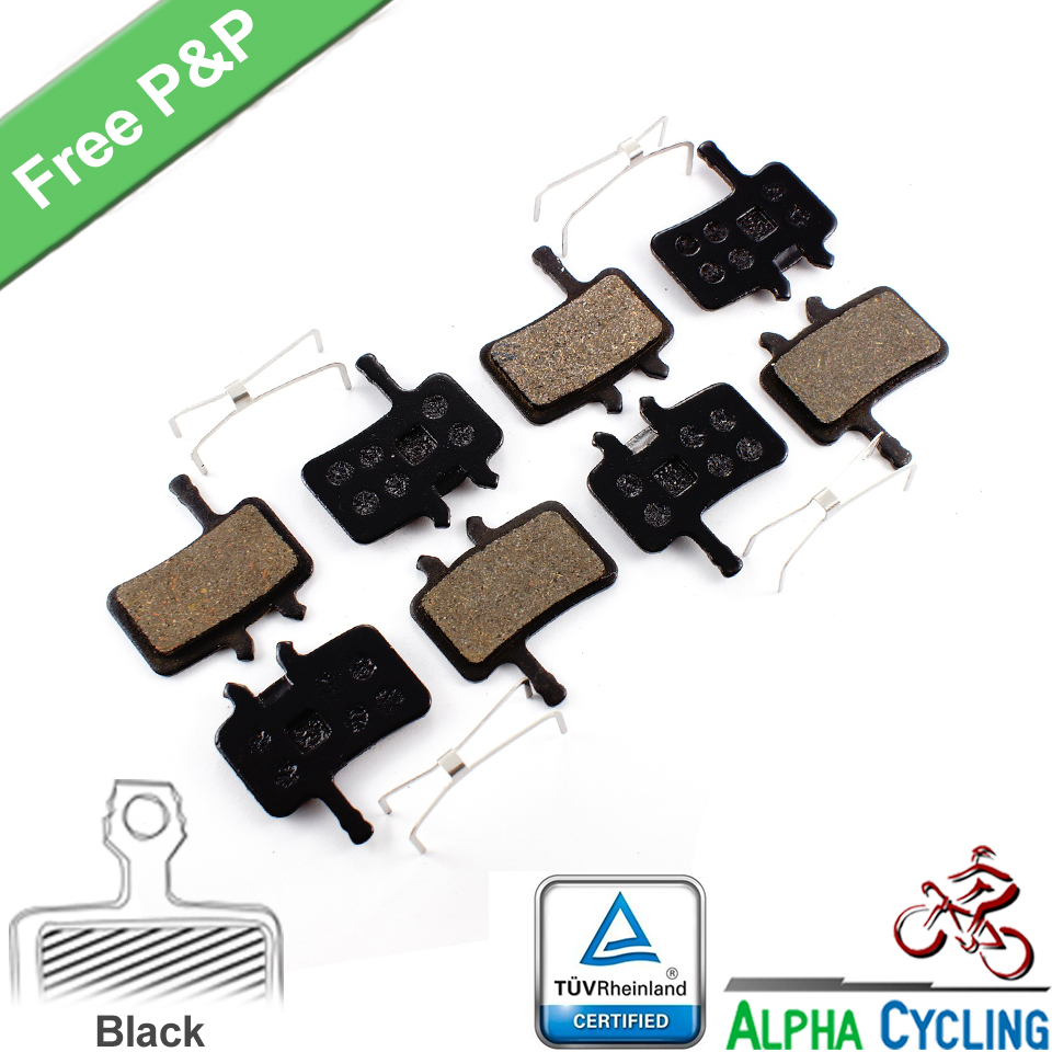 Bicycle Disc Brake Pads voor AVID BB7 Juicy 3 5 7 schijfrem, 4 paar, Black Class