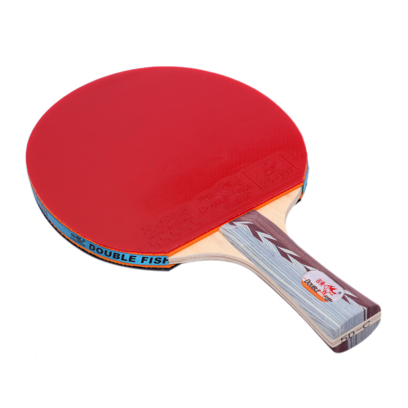 Double Fish 5D-C 5D-E Table Tennis 7layers Pure Wood Rackets Racquet Bat Fast Attack Loop For Amateur Entertain Players