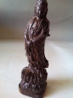 Fine Chinese Fragrant Wood Carved, Excellent old HandWork Guanyin