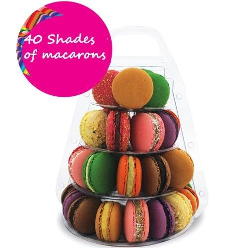 4 Tier PVC Macaron carry-out kutusu düğün macaron kutusu ile - Tatiller ve Partiler Için - Fotoğraf 4