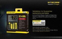 1 PC miglior prezzo NITECORE SC4 smart più veloce di ricarica caricatore eccellente con 4 slot 6A Totale di uscita Compatibile IMR 18650 14450 16