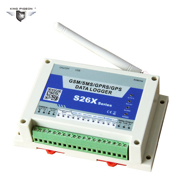 GSM GPRS Temperature Logger Inbuilt Industrial Quad-band GPRS Engine And GPS Module Optional King Pigeon S260 arduino atmega328p gboard 800 direct factory gsm gprs sim800 quad band development board 7v 23v with gsm gprs bt module