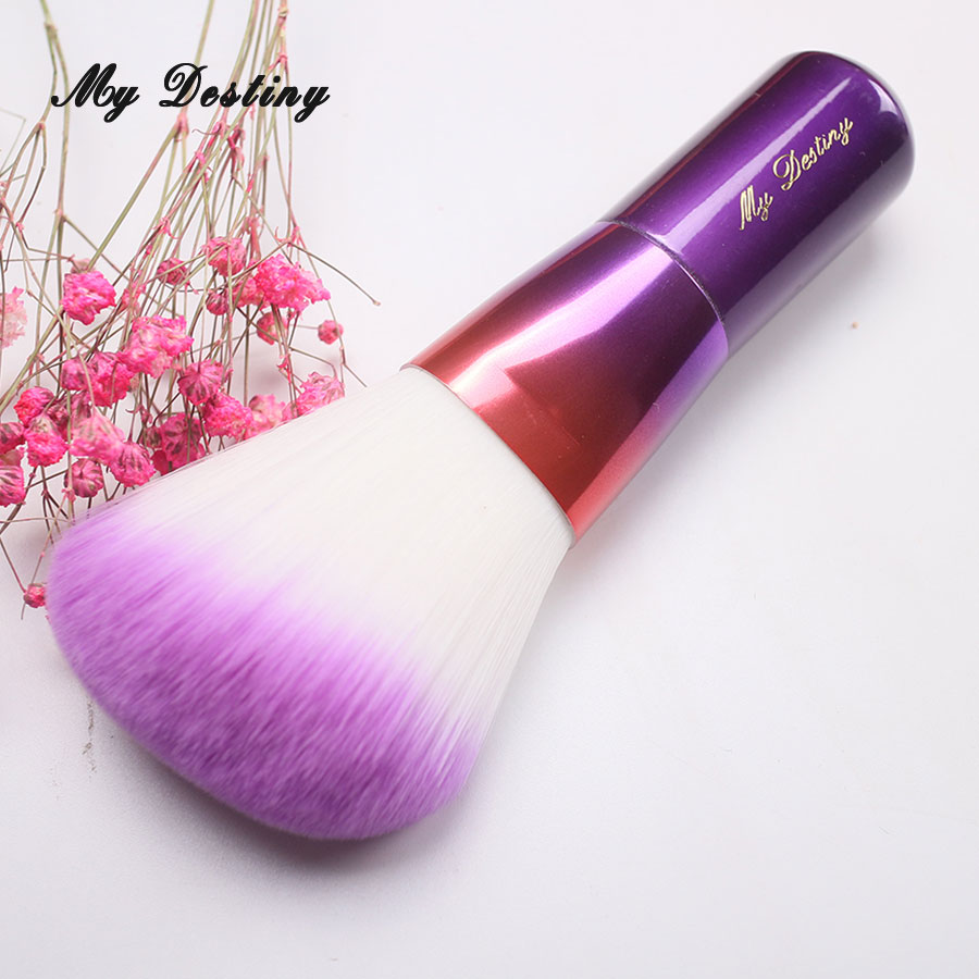 MY DESTINY Rainbow Purple Angled Powder Brush Make Up Makeup Brushes Pincel Maquiagem Brochas Maquillaje Pinceaux Maquillage energy brand blush powder brush makeup brushes make up brush brochas maquillaje pinceaux maquillage pincel maquiagem s115sp