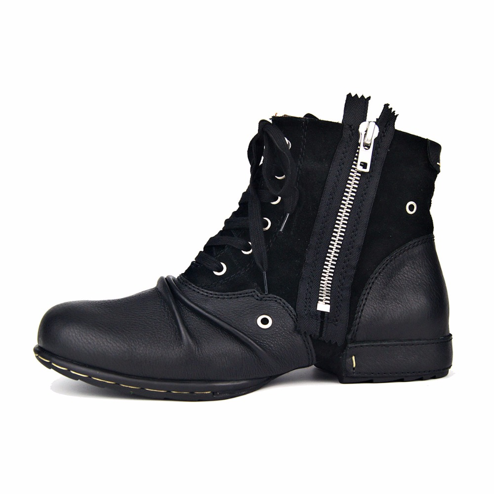 Genuine Leather Men Shoes Handmade Ankle Boots Superstar Boots Classic Outdoor Winter Shoes Brand Martin Muslim Boot Men Boots