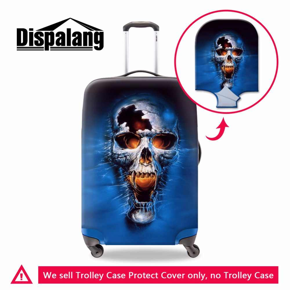 Dispalang Elastic Luggage Cover for Men Travel Skull Pattern High Quality Cover for 18-30 inch Suitcase Cool Travel Accessories