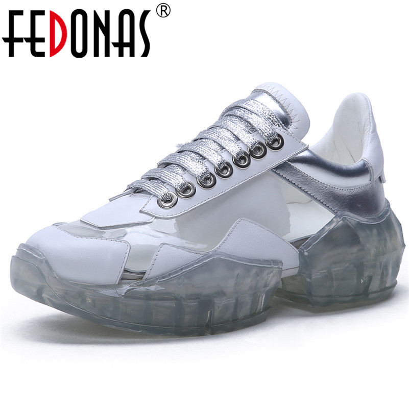 FEDONAS Fashion Women Sneakers Genuine Leather Corss-tied Spring Casual Shoes Woman Flats Platforms Dancing Shoes Sport Shoes