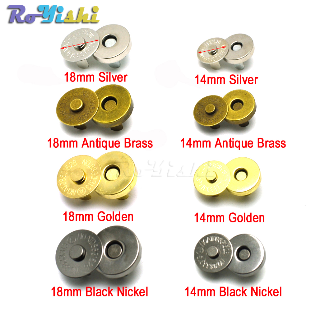 Magnetic Snap Fasteners Clasps Buttons Handbag Purse Wallet Craft Bags Parts Accessories 14mm 18mm Magnetic Snap Fasteners Clasps Buttons Handbag Purse Wallet Craft Bags Parts Accessories 14mm 18mm