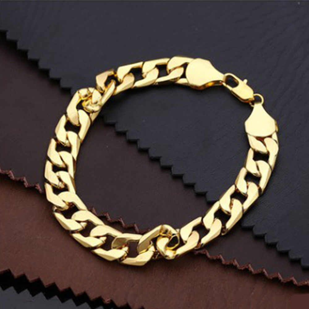 10MM Men Bracelets Rock Trendy Gift For Man Chain Link Stainless Steel Bracelet Hiphop Jewelry