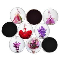 5pcs/Lot Creative Flower Fairy Angel Round Glass Fridge Magnet Message Sticker For Kids Kitchen Home Decor