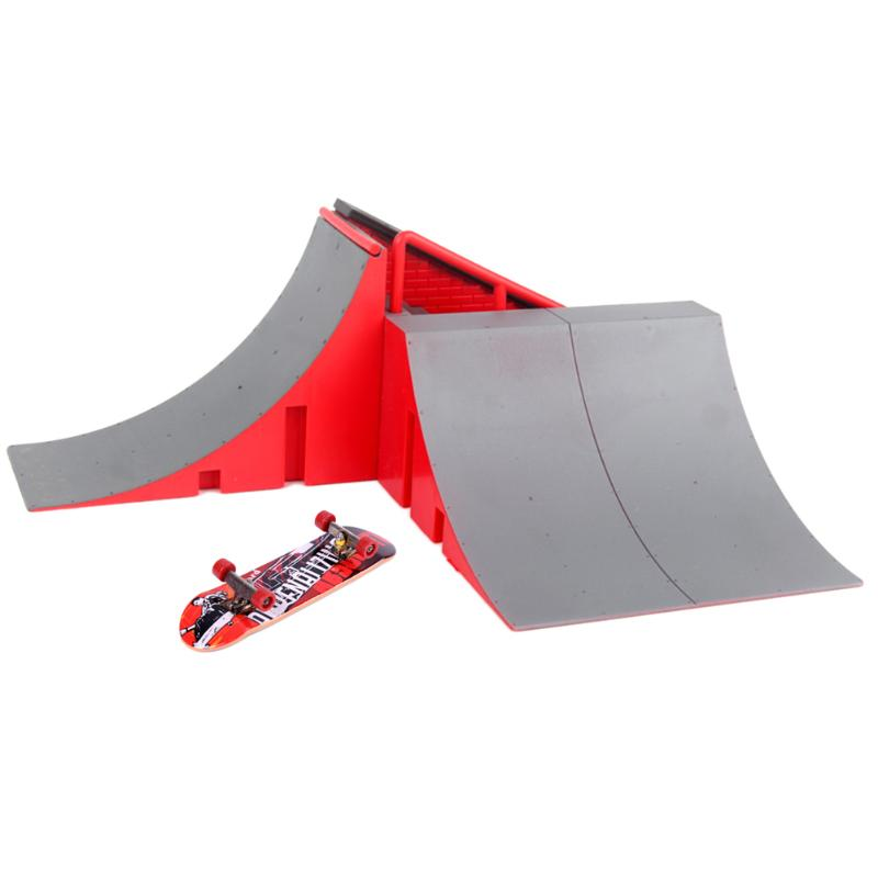 Mini Alloy Table Finger Skateboards Kids Toys Gifts Table Skating Board with Ramp Part Track Game Toy Children DIY Gift Toy Set