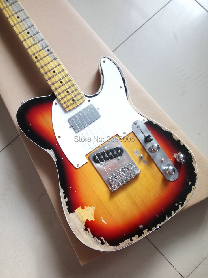 Custom Shop handmade Limited Edition Andy Summer Tribute Tele Electric Guitar tl guitar boost tuner H switch to S pickup tuner in Guitar from Sports Entertainment