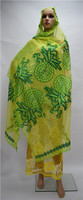 Charming African scarf fabric with stones french net scarf shawl headties for fashion lady 2m*1.2m ESF2