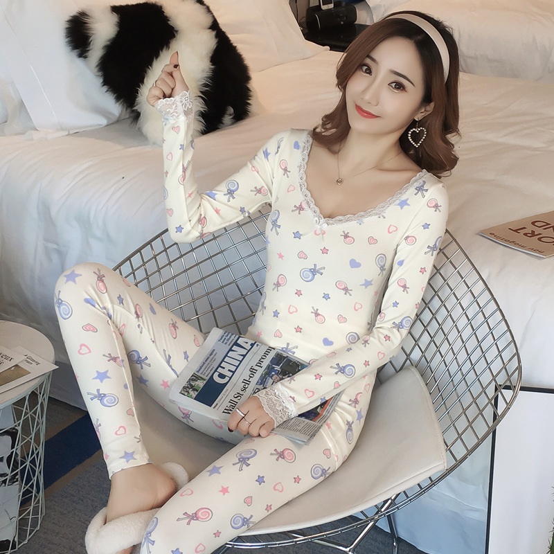 M-2XL Plush Womens Pajamas Sets Cute Women Pyjama Women Winter Pijama Women Pajama Sets Sleepwear Pajamas Sets