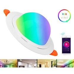 WiFi สมาร์ทไฟ LED 9W RGBW ห้องนั่งเล่นในร่มใช้งานร่วมกับแมว elf Alexa/Google Home