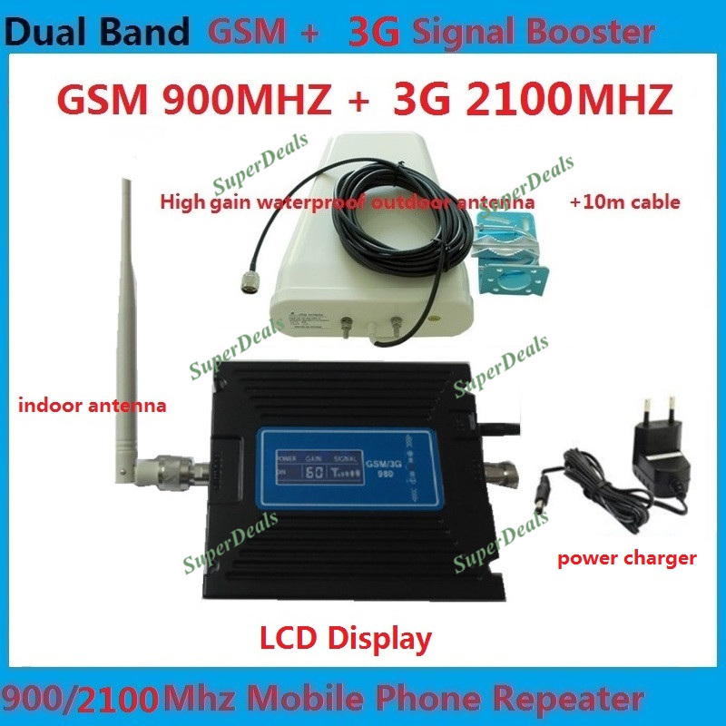 GSM 3G Amplifier LCD Display 65dB Gain GSM 900mhz 3G WCDMA 2100mhz Dual Band Booster Mobile Repeater Repetidor De Sinal CelularGSM 3G Amplifier LCD Display 65dB Gain GSM 900mhz 3G WCDMA 2100mhz Dual Band Booster Mobile Repeater Repetidor De Sinal Celular