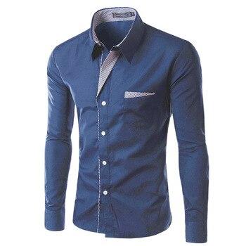 Shirts 2017 Spring Summer Fashion Leisure Men's Long Sleeved Shirt Youths Cotton Dress Shirts High Quality Mens Casual Shirt 4XL
