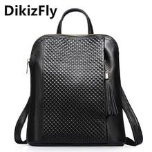 DikizFly известный бренд Натуральная Кожа Дамы рюкзак многофункциональный Женщин Рюкзаки Колледж Стиль Натуральная Кожа Рюкзак Женский