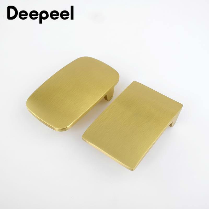Deepeel 40mm Width Brass Belt Buckle For Men Direct Sale Pure Copper Belt Buckle Head DIY Buckle Leather Belt For 38-39mm Belt