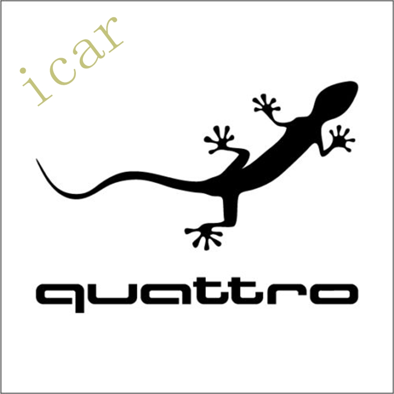 Quattro Car Sticker Decal For Audi Vinyl Gecko Decor audi coupe quattro купить витебск