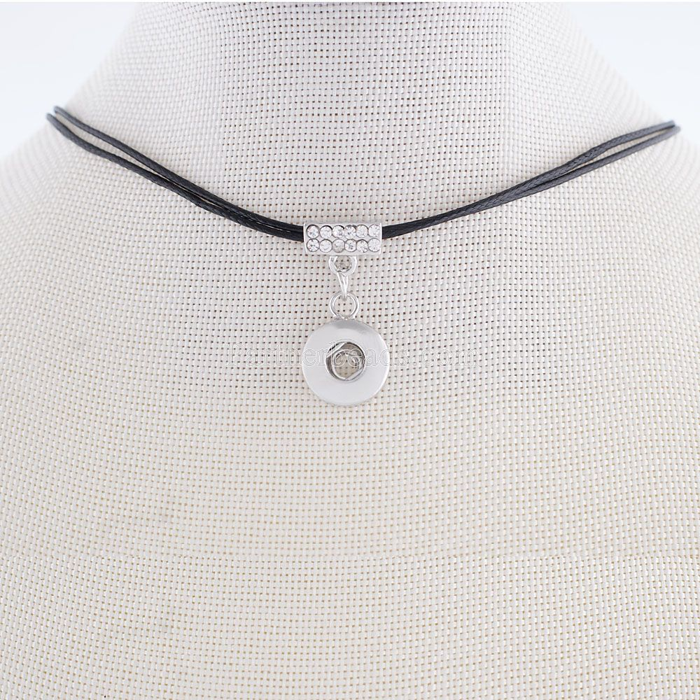 12mm Partnerbeads Snap Button Charms Leather Chokers Necklace for Women Small Pendant KS0929-S image