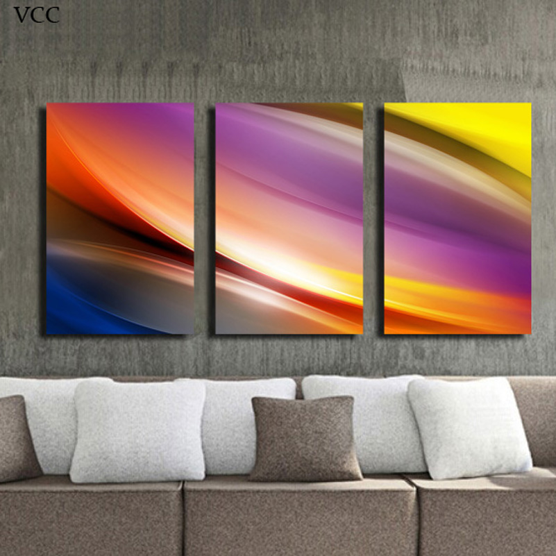 Wall Art Home Goods: VCC 3Pieces Abstract Home Goods Wall Art Canvas Painting