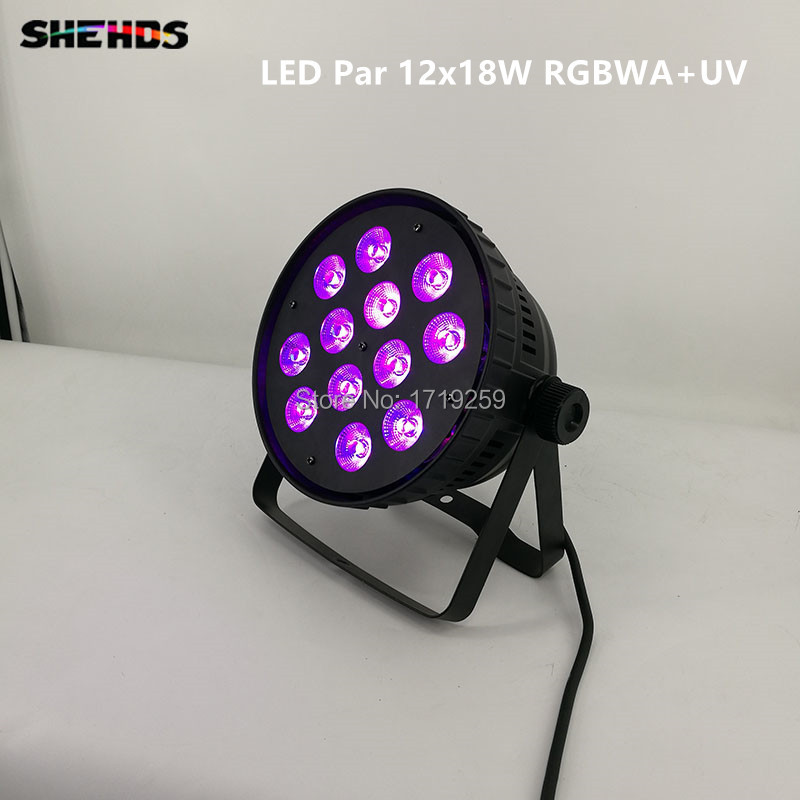 Wash Light LED Par Can 12x18W RGBWA+UV  Lighting For Event KTV Disco Party Nightclub 6/10 DMX Channels Fast Shipping 2pcs lot led par can 18x18w rgbwa uv dmx stage business light high power light for party ktv disco dj shenhe stage lighting