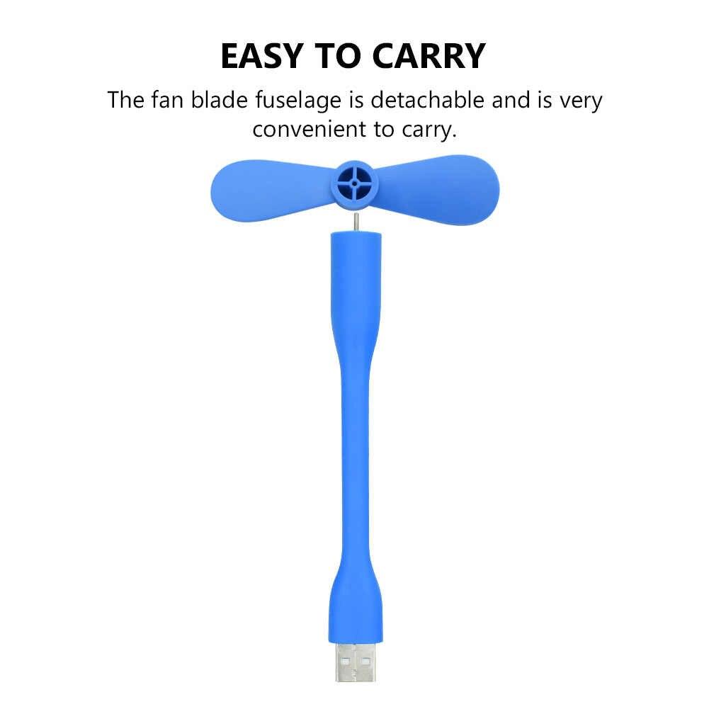 Mini ventilador USB Flexible portátil bonito, Gadgets USB extraíbles flexibles, bajo consumo de energía para banco de energía para PC para ordenador portátil para OTG
