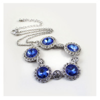 Ocean Blue Quartz Crystal Love Necklaces Pendants Flash Diamond Jewelry Necklace Women Short Paragraph Gift Brand