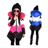 girl down coat warm removable Winter coat for 4 12yrs kids children tollder girl Winter jacket outerwear clothes