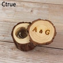 6 см X 6 см пользовательские Гравированные кольца с инициалами держатель деревянные, на выбор обручальное кольцо коробка украшение для мероприятия вечеринки поставки свадебные подарки