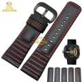 2016 New Genuine Leather watch strap 28mm bracelet Watchband Black with stitched for Friday Men Watch accessories belts