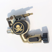 1pc Skull Style Tattoo Machine RCA Connector Rotary Tattoo Machine Liner And Shader Electric Tattoo Machine Rotary For Body Art