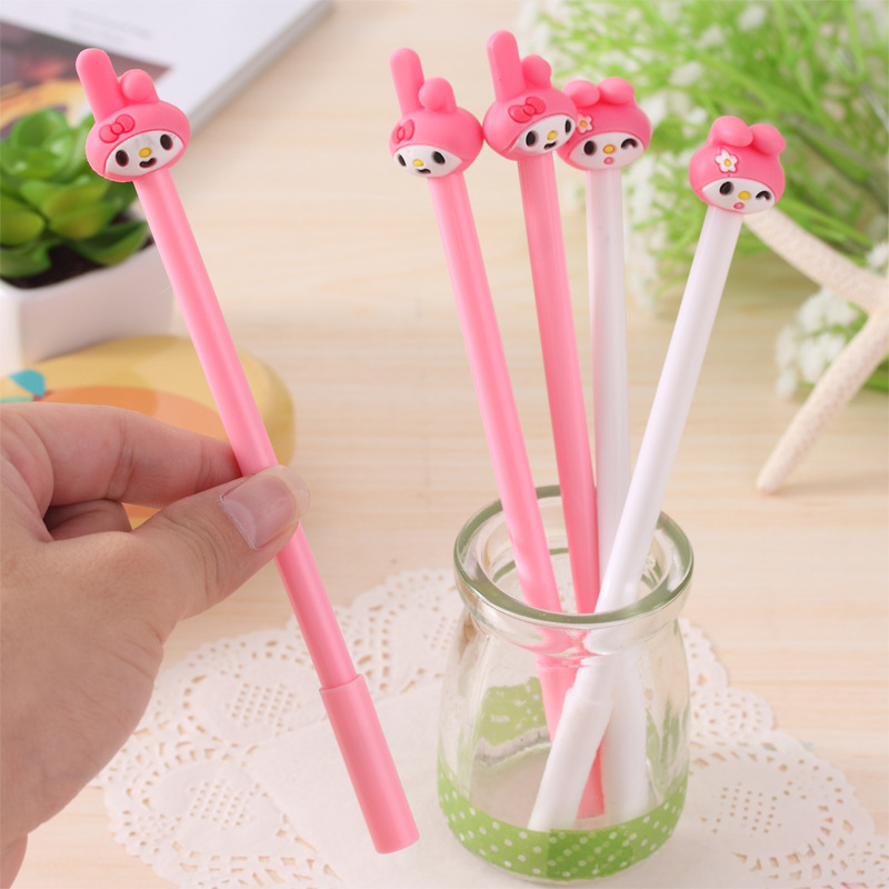 1pc Creative Merlotte Rabbit Gel Pen 0.5mm Black Gel Pen Writing Tool For Students Kids School Supplies Stationery