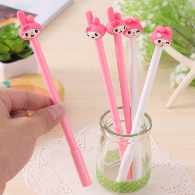 1pc Creative Merlotte Rabbit Gel Pen 0.5mm Black Gel Pen Writing Tool For Students Kids School Supplies Stationery