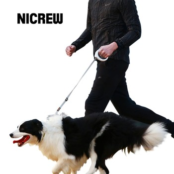 Nicrew PetSmart Dog Leash Handle 120CM Dog Traction Rope Leads Walking Route Record Calling Reminding Night Light Pets Harness