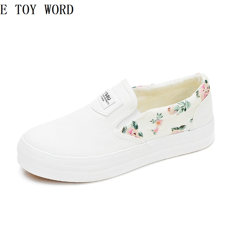 2018 summer han edition white canvas shoes for women's shoes at the end of a thick and lazy student cloth shoes joker white shoe the ocean at the end of the lane