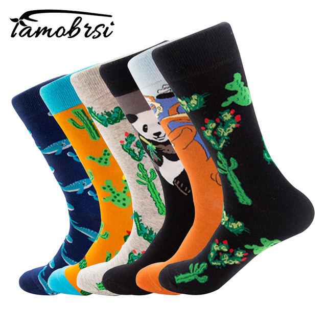 Animal Plant Whale Cactus Octopus Panda Autumn Winter Street Style Socks Funny Happy Socks Cotton Men Socks Female Women Socks