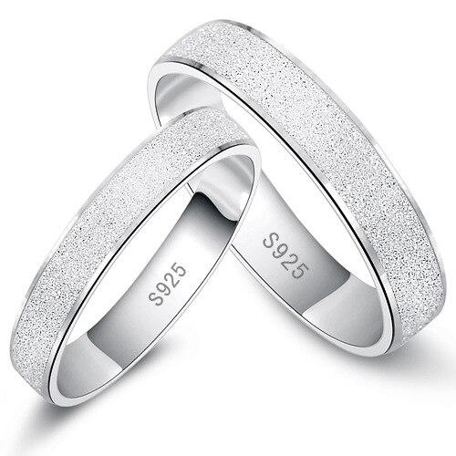5df3de032392 Real Anillos De bodas De plata para hombre y mujeres Lovers   mujeres  Anillos De la