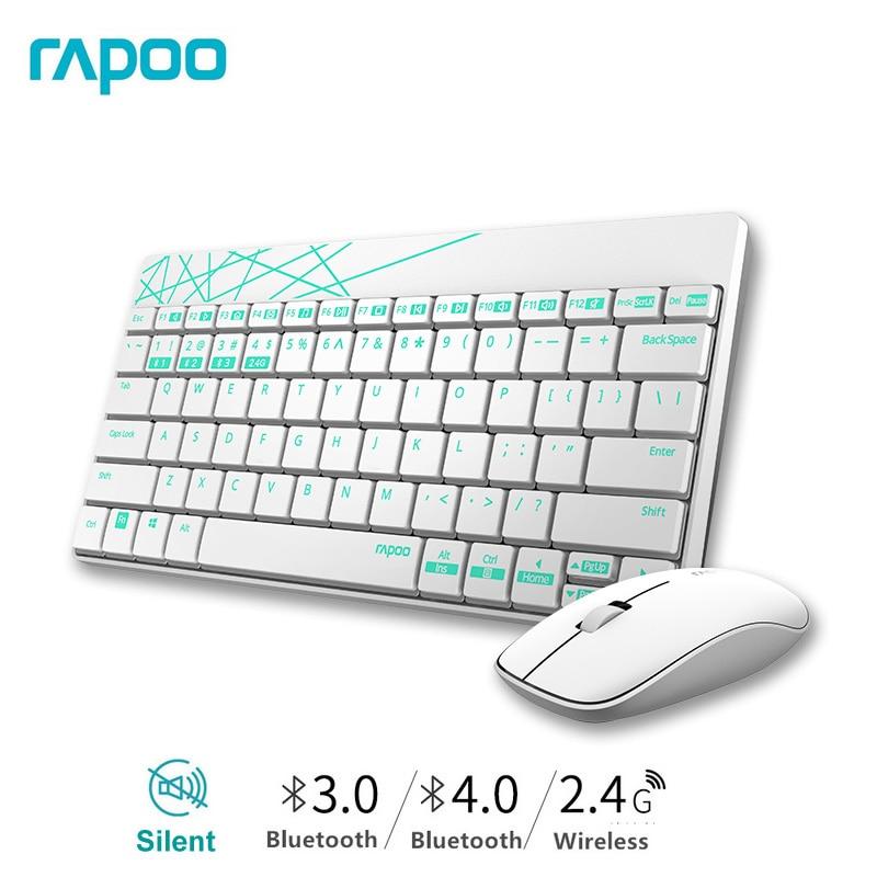 3da7b1c889b Rapoo Waterproof Mute 2.4G Mini Wireless Keyboard & Mouse Combo Multimedia  Keys for Windows PC Laptops Desktops Smart TV -in Keyboards from Computer  ...