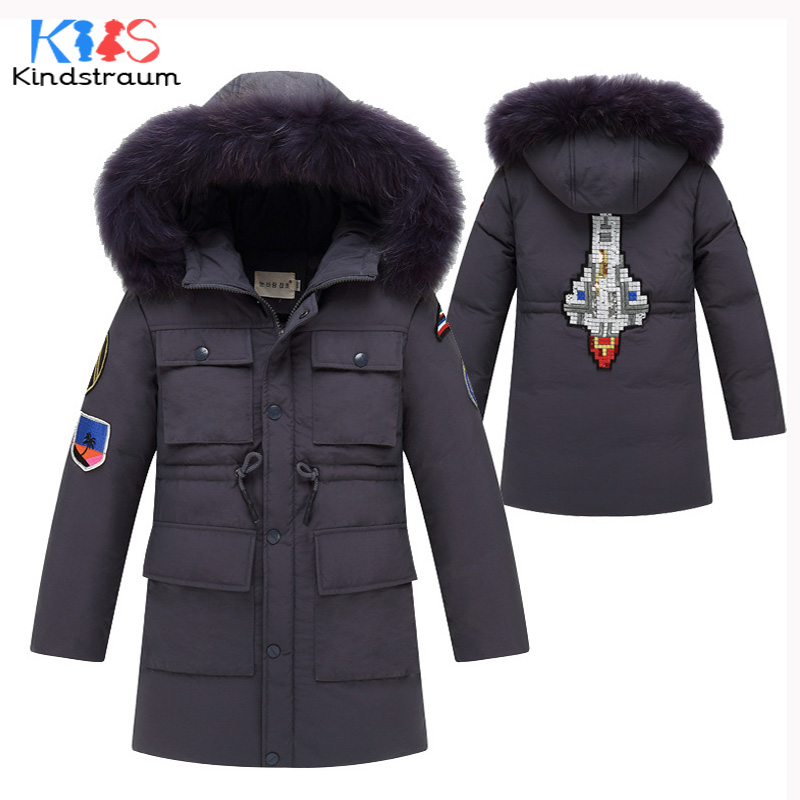 Kindstraum 2017 Winter Fashion New Kids Warm Coat Hooded 100% Duck Down Super Warm Boys Girls Casual Jacket Child Outwear, MC867 kindstraum 2017 fashion kids winter jacket cotton new boys girls warm hooded coat children casual dinosaur outwear printed mc802